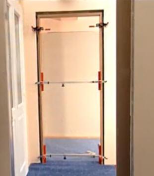 Montáž obložkových dveří